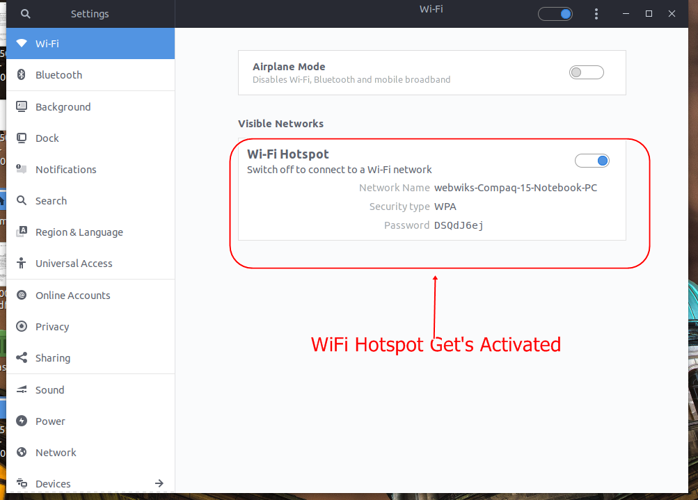 Hotspot Activated