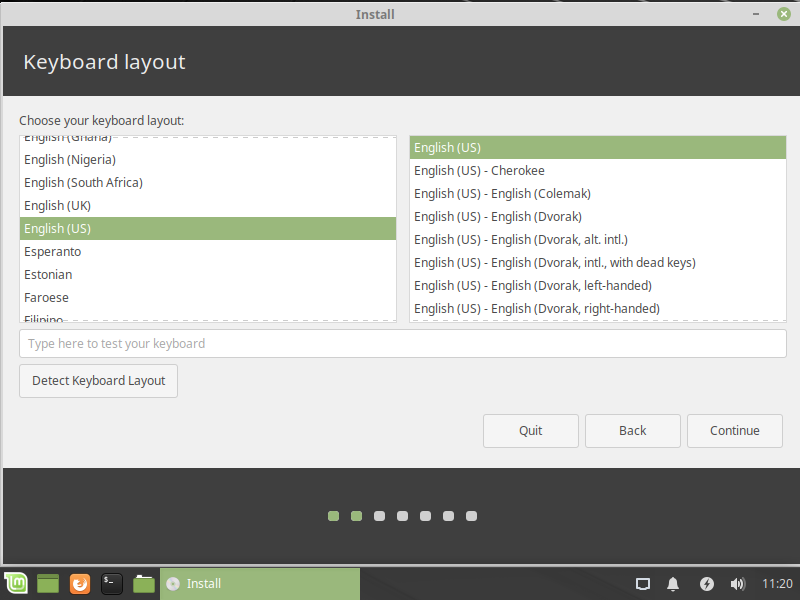 Linux Keyboard Layout