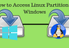 Access Linux partition, Linux partition