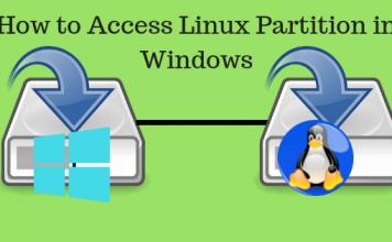 Access Linux partition, Linux partition