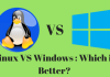 Linux vs windows, Linux and windows