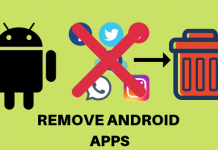 remove android apps