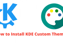 KDE Plasma, kde themes and icons