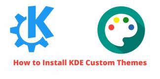 KDE Plasma, kde themes and icons